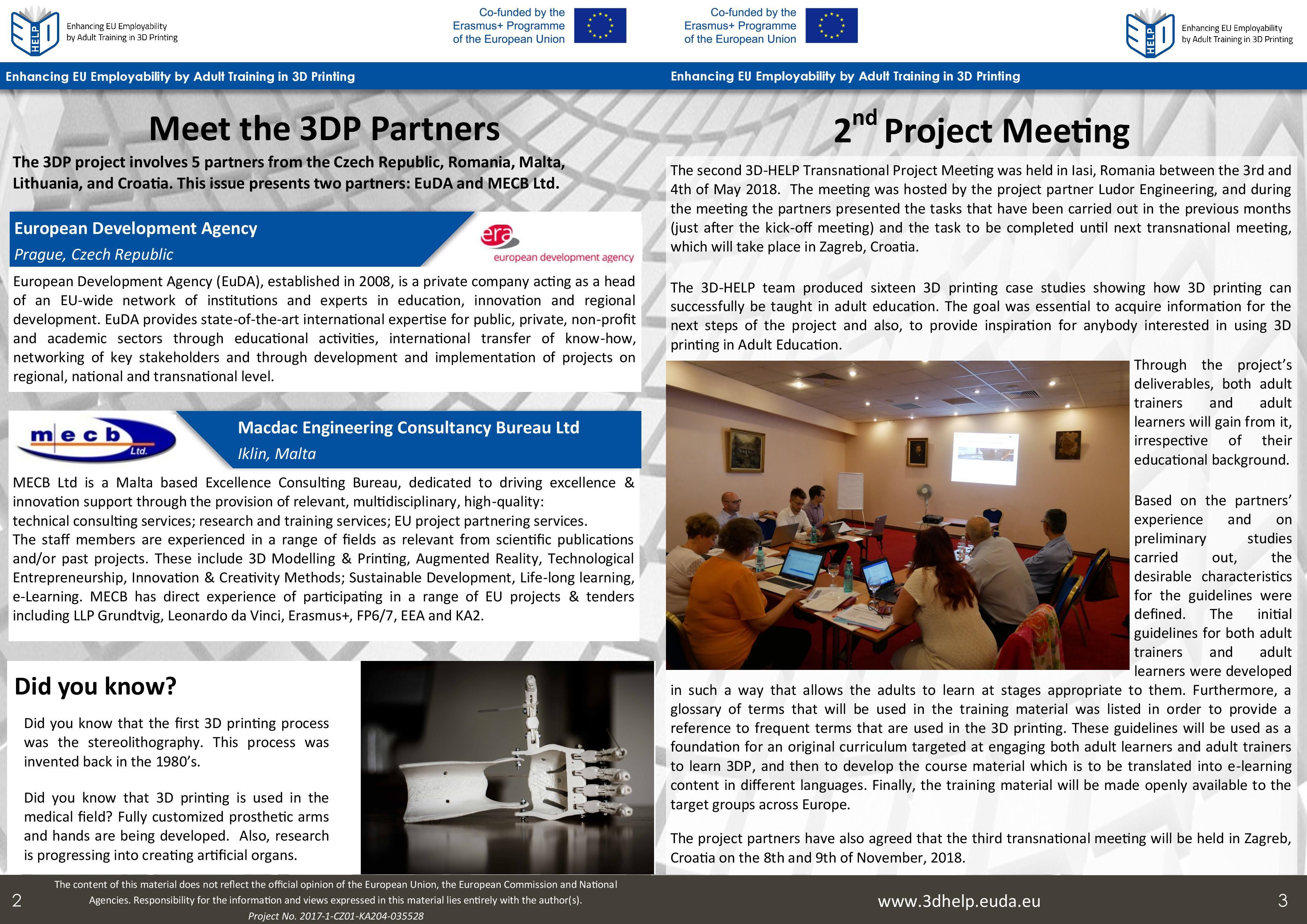 Team Newsletter Template from euda.eu